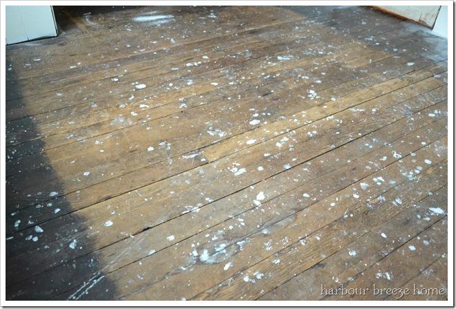 splattered floor