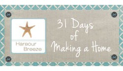 31 days of making a home