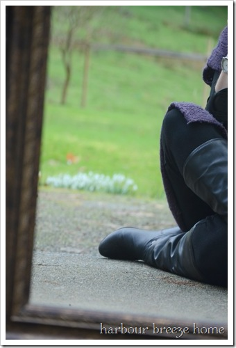 boots and snowdrops