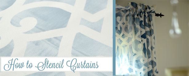 how to stencil curtains slide