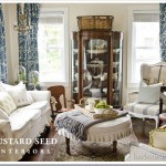 Stenciled Dining Room Curtains