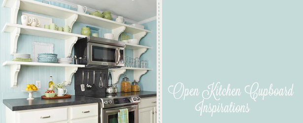 open kitchen cupboards