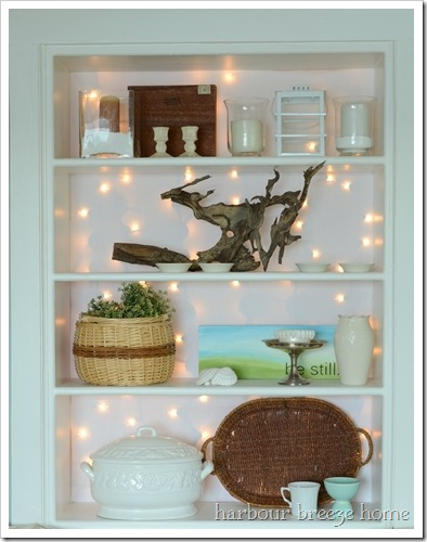 twinkling bookcase