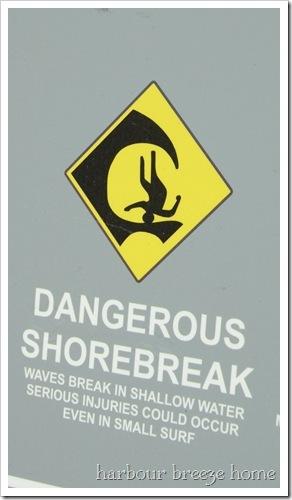 shorebreak sign