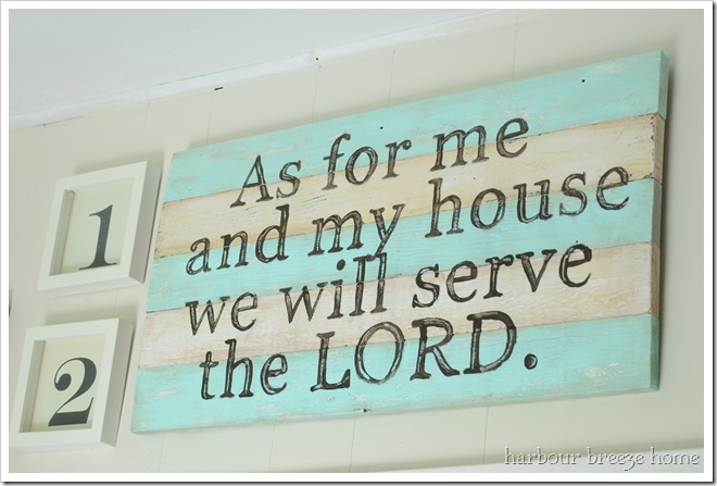 as for me and my house rustic sign