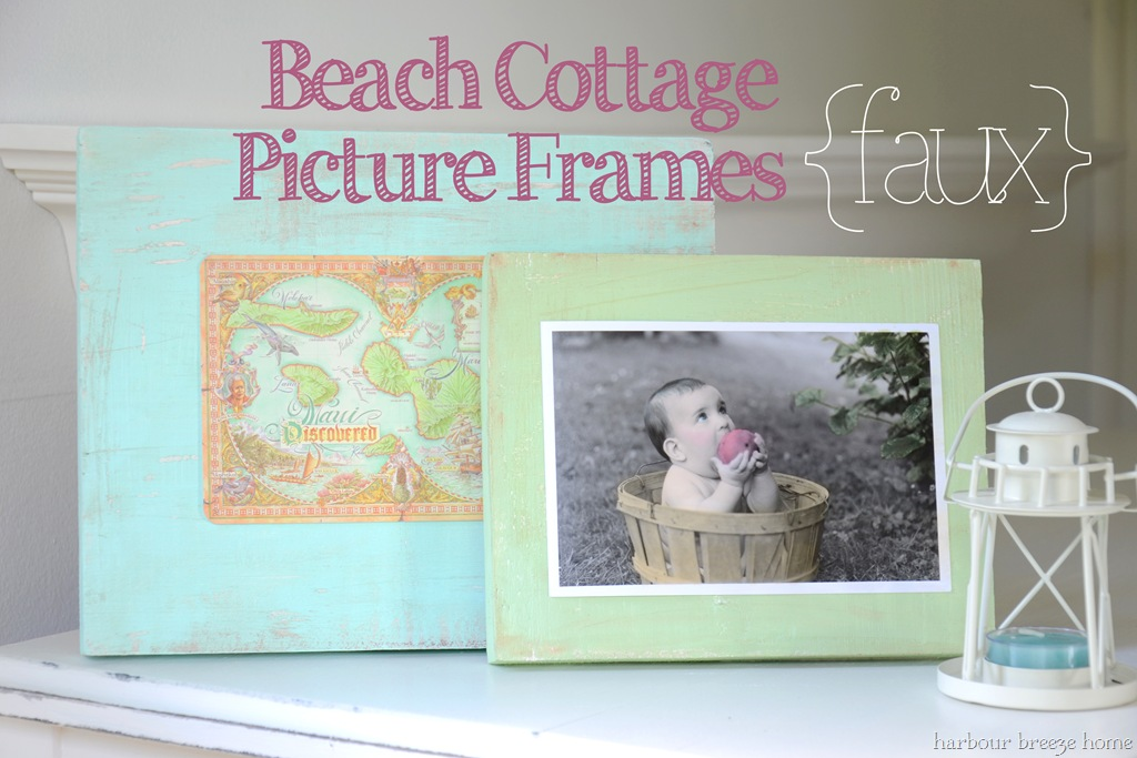 Beach Cottage {Faux} Picture Frame   Harbour Breeze Home