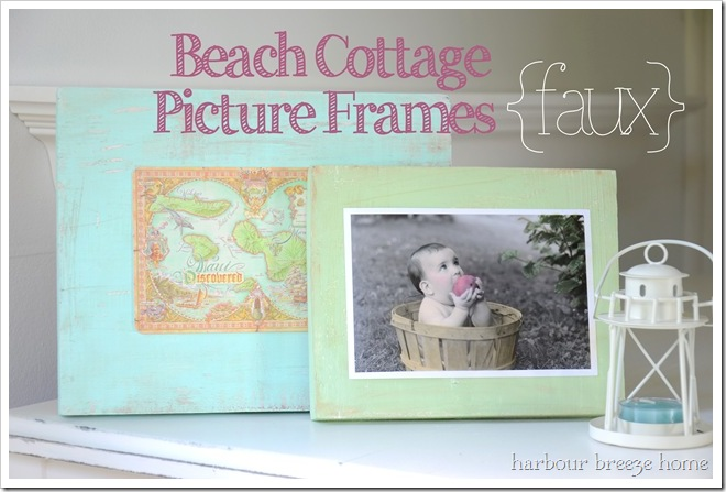 beach cottage {faux} frames with text