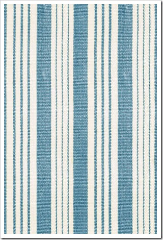 My striped little spot of happiness harbour breeze home for Blue and white carpet
