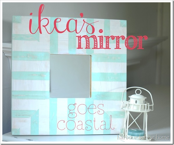 ikea's mirror goes coastal with text