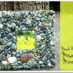 Beach Rock Mosaic Mirror {Mother Daughter Craft Idea}