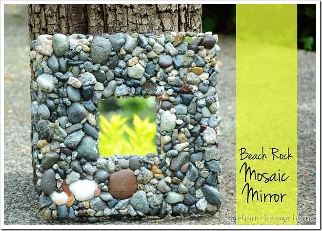 rock mosaic mirror final with words