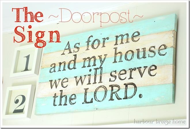 the doorpost sign