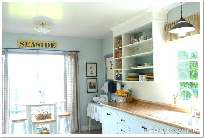 kitchen open cupboards