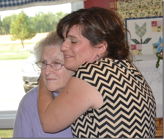 hugging mom