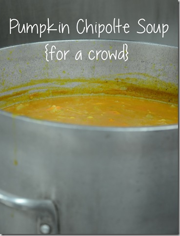 pumpkin chipolte soup with words