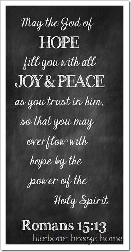 hope, joy and peace