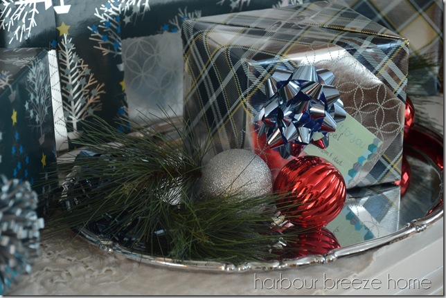 presents on a tray