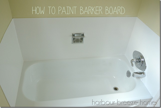 how to paint barker board