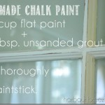 Homemade Chalk Painted Old Window