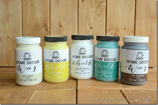 3 colors of home decor chalk i chose yellow crochet white adirondack and grotto clear wax and antiquing wax my mind was filled with all kinds of - Home Decor Chalk Paint