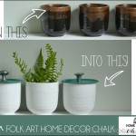 Bathroom Storage Jars with Folkart Chalk