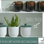 Bathroom Storage Jars with Folkart Chalk