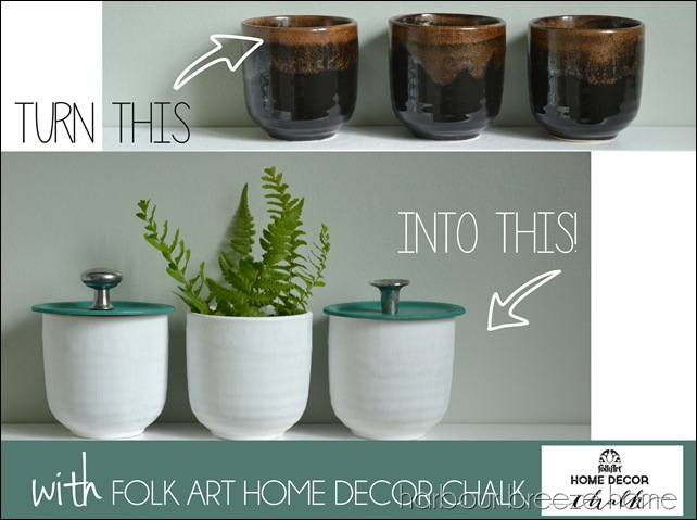 folk art chalk bathroom storage jars