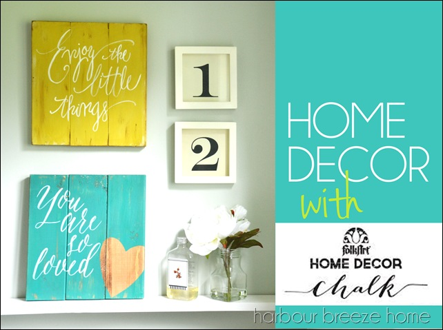 folkart chalk projects - Home Decor Chalk Paint