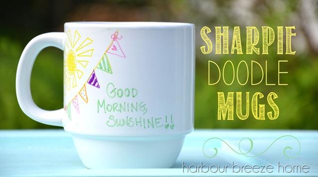 Sharpie Doodle Mugs