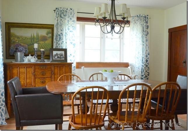 dining room with closet door