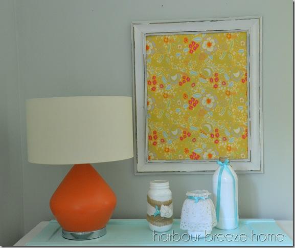 orange lamp arrangement