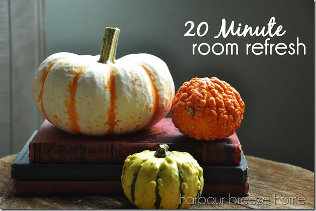 20 minute room refresh