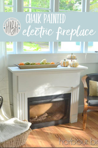 chalk painted electric fireplace