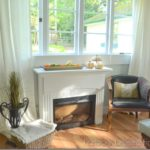 Painted Electric Fireplace