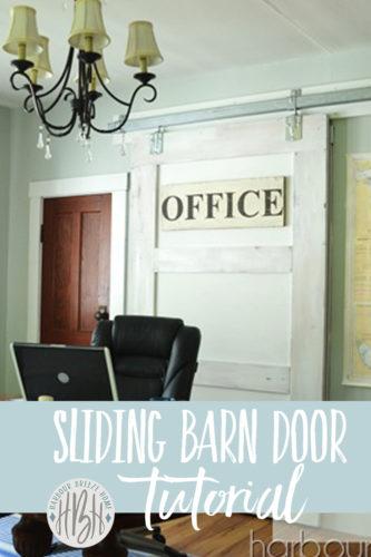 sliding barn door tutorial pinterest