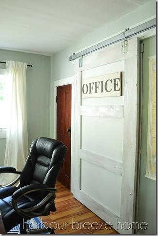 Sliding Barn Door in Office  Harbour Breeze Home