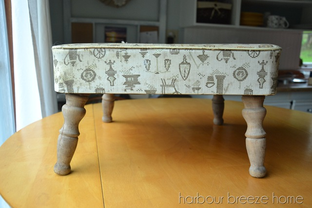 A Shabby Glam Footstool Makeover