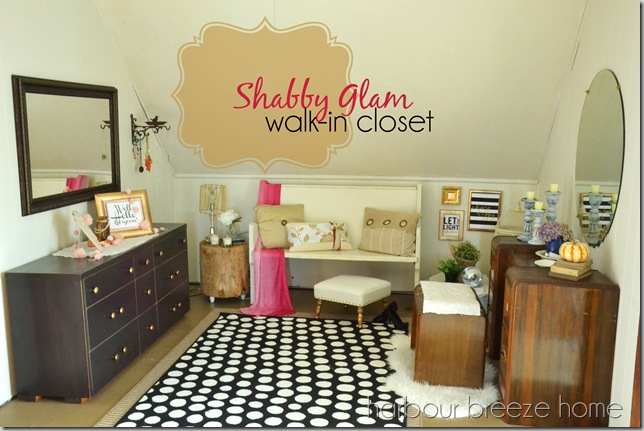 shabby glam walk in closet words