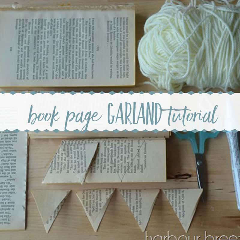 Easy Book Page Bunting Garland