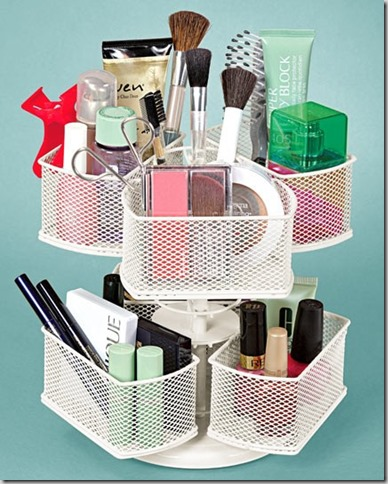 lazy susan make-up organizer