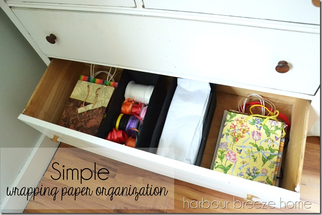 wrapping paper storage ideas harbour breeze home