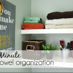 5 Minute Towel Organization