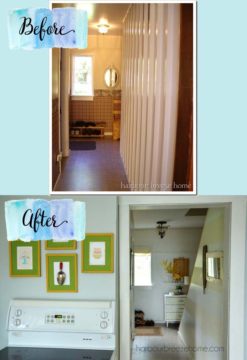 Entryway ~ a simple and functional space | harbourbreezehome.com