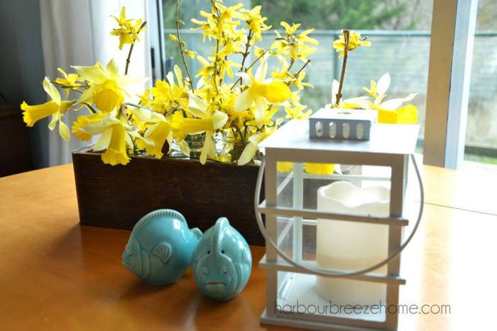 Rustic Spring Flower Arrangement