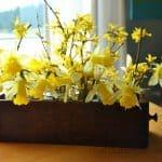 Rustic Spring Flower Arrangement