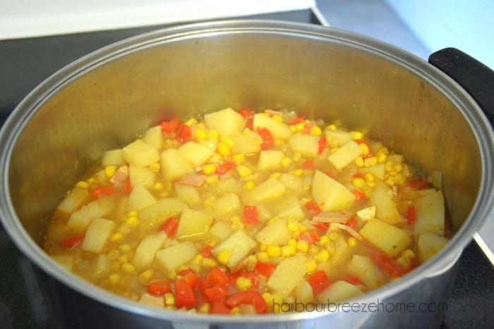 Potato Soup & Dumplings   harbourbreezehome.com