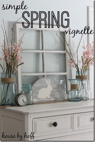 pinterest inspired spring dresser decor - Dresser Decor
