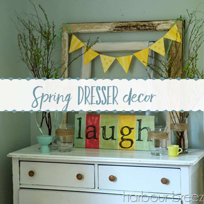 Pinterest Inspired ~ Spring Dresser Decor