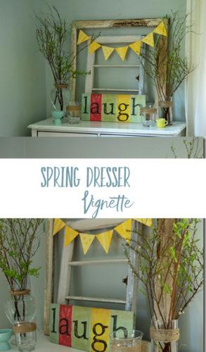 spring dresser decor pinterest