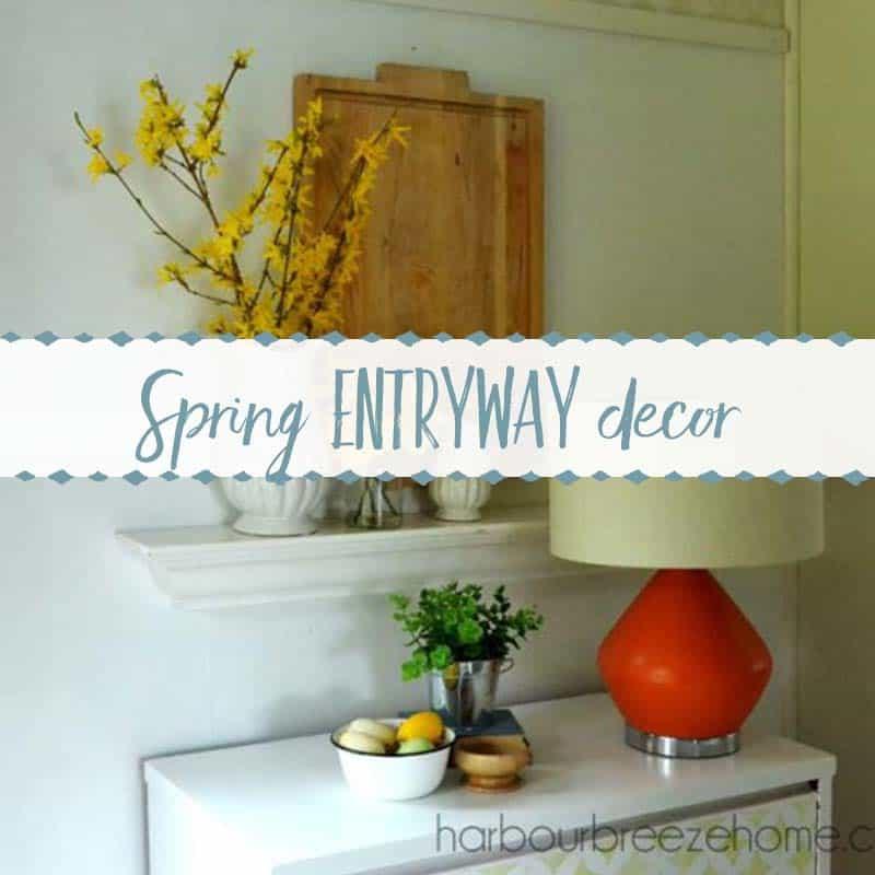 Spring Entryway Vignette